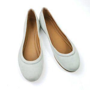 Frye Carson Ballet  flat pale grey/blue sz9